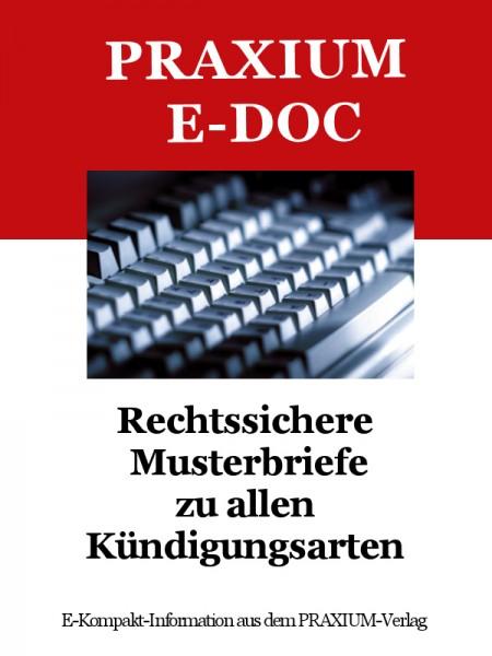 Rechtssichere Musterbriefe zu allen Kündigungsarten (E-Doc)