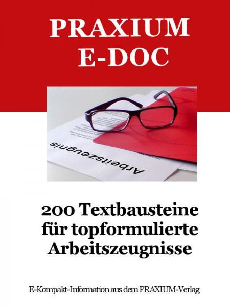 200 Textbausteine für topformulierte Arbeitszeugnisse (E-Doc)