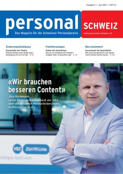 HR-Fachmagazin personalSCHWEIZ
