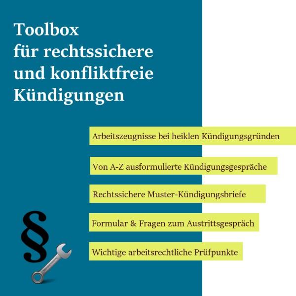 E-Toolbox für rechtssichere und konfliktfreie Kündigungen