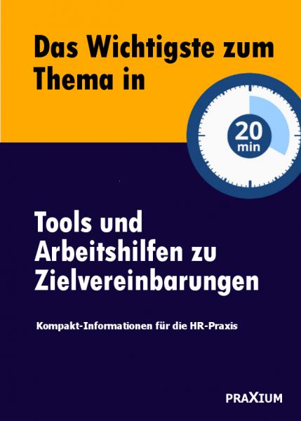 Tools und Arbeitshilfen zu Zielvereinbarungen