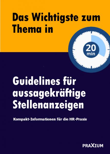 Guidelines für aussagekräftige Stellenanzeigen