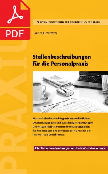 Stellenbeschreibungen für die Personalpraxis – PDF-Ausgabe