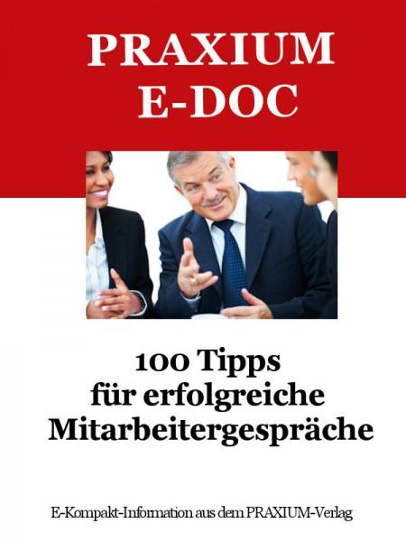 100 Tipps für erfolgreiche Mitarbeitergespräche (E-Doc)
